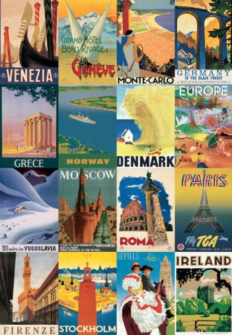 Vintage-Travel-postcards